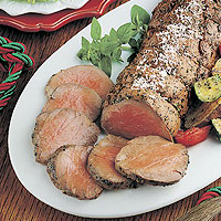 Beef Tenderloin &amp;amp; Garlic-Roasted Vegetables: Main Image