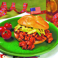 Chicken Barbecue and Slaw Sandwiches: Main Image