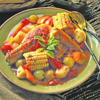 Chicken Brunswick Stew with Roasted Garlic: Main Image