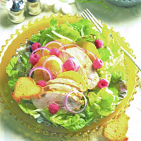 Chicken Salad with Fennel, Orange, and Raspberries: Main Image