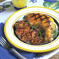 Grilled Chicken and Sweet Potatoes with Orange Glaze: Main Image