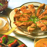 Sesame Chicken Fingers with Two Dipping Sauces: Main Image