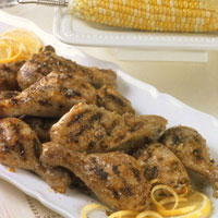 Chicken Drumsticks with Lemon and Garlic: Main Image