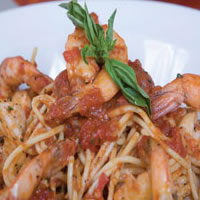 Angel Hair Pasta with Shrimp and Basil: Main Image