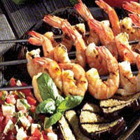 Charcoal Grilled Shrimp: Main Image