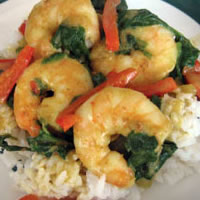 Curried Shrimp with Coconut Rice: Main Image