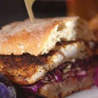 Grilled Blackened Barramundi Sandwich: Main Image