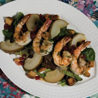 Grilled Shrimp and Roasted Pear Salad: Main Image