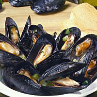 Mussels Steamed in White Wine: Main Image