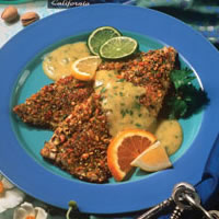 Pistachio Crusted Rainbow Trout with Cilantro Citrus Hollandaise: Main Image
