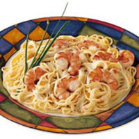 Shrimp Pasta with Cognac Sauce & Smoked Salmon: Main Image