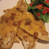 Sole with Orange Raisin Sauce: Main Image