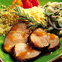 Apricot-Mustard Grilled Pork Tenderloin: Main Image