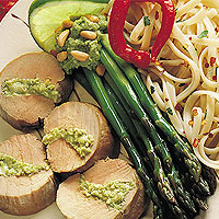 Pork Tenderloin with Cilantro-Lime Pesto: Main Image