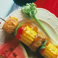 Apricot Glazed Pork Kabobs: Main Image