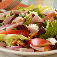 master.k.m.us.NPB Autumn Apple Ham and Goat Cheese Salad Healthy Eating