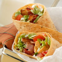 Bacon, Lettuce, and Tomato Wraps: Main Image