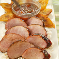 Chili Rubbed Pork Tenderloin with Apricot Ginger Glaze: Main Image