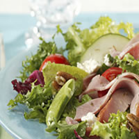 Chopped Salad with Ham and Goat Cheese: Main Image