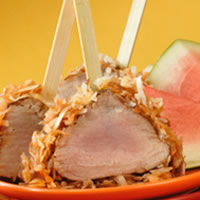 Coconut-Crusted Pork Tenderloin Lollipops: Main Image