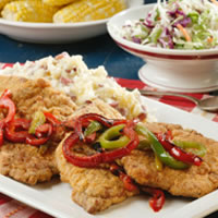 Country-Fried Pork & Peppers: Main Image