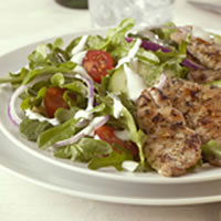 Greek Salad with Pork: Main Image