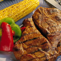 Grilled Honey-Soy Pork Steaks: Main Image