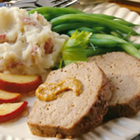 Mustard-Apple Meat Loaf: Main Image