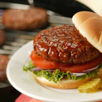 Pork Burgers on Sandwich Buns: Main Image