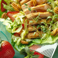 Pork and Pecan Salad with Honey-Balsamic Dressing: Main Image