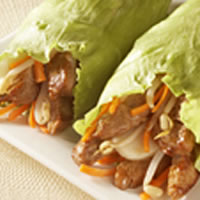 Teriyaki Pork Lettuce Wraps: Main Image