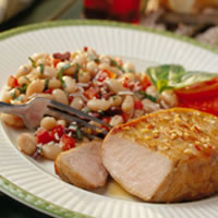Zesty Italian Pork Chops with Cannellini Salad: Main Image