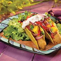Baja Style Fish Tacos with Onion Mango Salsa: Main Image