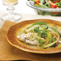 Garden-Style Fish with Onions and Bell Peppers: Main Image