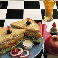 Hearty Onion-Veggie Sandwich: Main Image