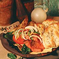 Roast Beef with Onion Relish on Focaccia: Main Image