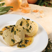 Roasted Onions with Herb-Butter Sauce: Main Image