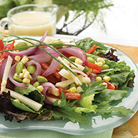 Sweet Veggie Onion Salad with Margarita Dressing: Main Image