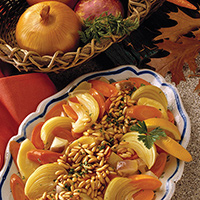 Winter Root Vegetables with Pine Nuts: Main Image