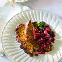 Cinnamon French Toast with Pomegranate-Apple Compote: Main Image