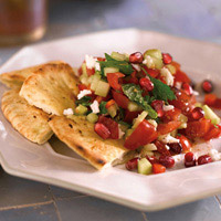 Turkish Chopped Salad with Pomegranate Seeds: Main Image
