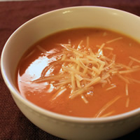Butternut Squash Soup with Thyme and Parmesan: Main Image