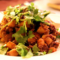 Chickpea and Lentil Saute with Apples and Curry: Main Image