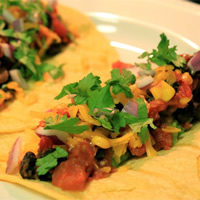 Gourmet Black Bean Tacos: Main Image