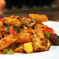 Healthy Baked Penne with Roasted Vegetables: Main Image