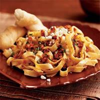 Pasta with Sun-Dried Tomato Pesto and Feta: Main Image