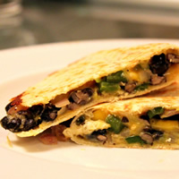 Poblano, Mango, Avocado, and Black Bean Quesadillas: Main Image