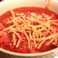 Spicy Tomato, Bean, and Veggie Soup: Main Image