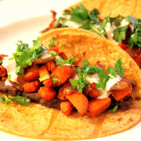 Sweet Potato Tacos with a Spicy Yogurt Sauce: Main Image