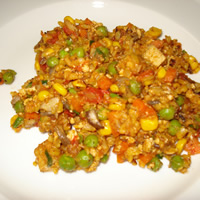Vegetable Paella with Tofu: Main Image